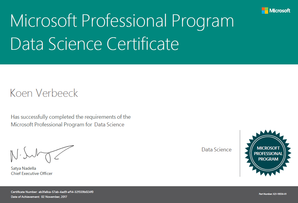 Microsoft Professional Program In Data Science The Finish Line